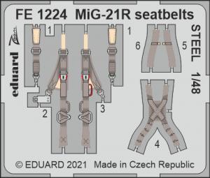 Eduard FE1224 MiG-21R seatbelts STEEL EDUARD 1/48