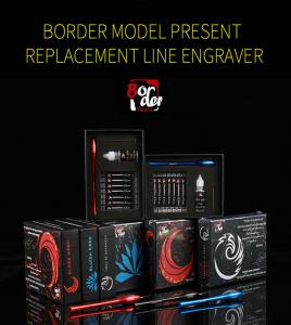 Border Model BD0050 Replacement Line Engraver - SET Red