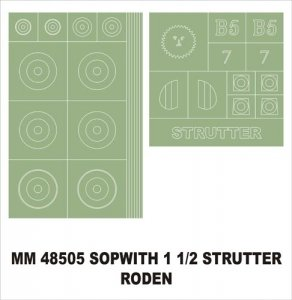 Montex MM48505 Sopwitch 1-Strutter RODEN 1/48