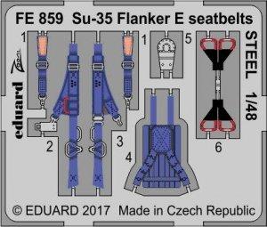 Eduard FE859 Su-35 Flanker E seatbelts STEEL KITTY HAWK 1/48