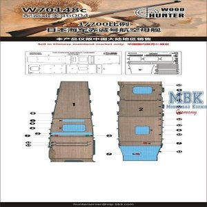 Wood Hunter W70148 IJN AKAGI wooden deck (for Fujimi 46004) 1/700