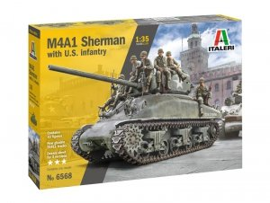 Italeri 6568 M4A1 SHERMAN with U.S. infantry 1/35