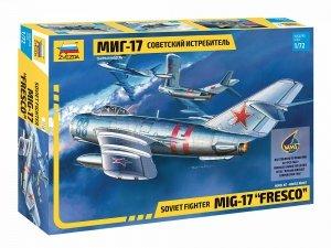 """Zvezda 7318 MIG-17 """"Fresco"""" Soviet Fighter 1/72"""