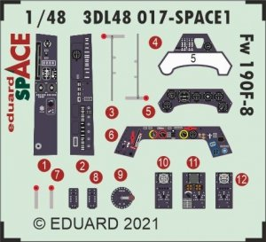 Eduard 3DL48017 Fw 190F-8 SPACE EDUARD 1/48