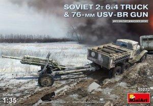MiniArt 35272 SOVIET 2T 6X4 TRUCK & 76-mm USV-BR GUN 1/35