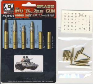 AFV Club AG35036 BRASS Ru 76.2mm Gun Ammo Set 1/35