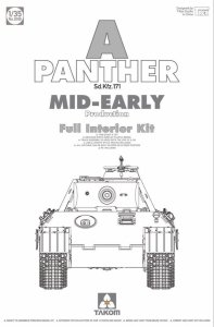Takom 2098 Panther Ausf. A mid-early prod. (full interior) 1/35