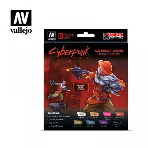 Vallejo 72307 Cyberpunk RED Combat Zone Paint Set 8x17ml
