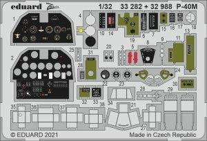 Eduard 32988 P-40M interior TRUMPETER 1/32
