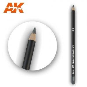 AK Interactive AK 10018 Watercolor Pencil GUN METAL (GRAPHITE)