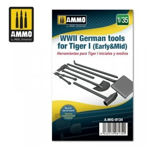 Ammo of Mig 8134 German Tools for Tiger I (Early & Mid) 1/35