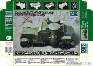 MASTER BOX 72008 British Armoured Car Austin MK IV WW I Era (1:72)