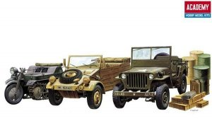 Academy 13416 LIGHT VEHICLES OF ALLIED AXIS DRING WWII
