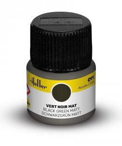 Heller 9091 091 Black Green - Matt 12ml