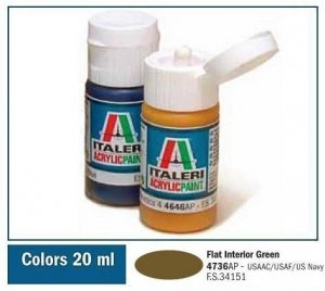 Italeri 4736 FLAT INTERIOR GREEN 20ml