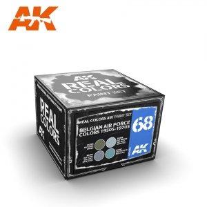 AK Interactive RCS068 BELGIAN AIR FORCE COLORS 1950S-1970S SET 4x10ml