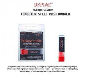 DSPIAE PB-09 0.9mm Tungsten Steel Push Broach / Rysik ze stali wolframowej