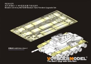 Voyager Model PE351075 Modern US Army M47E/M Medium Tank Fenders Upgrade Set for Takom 1/35