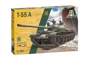Italeri 7081 T-55A with fully detailed engine 1/72