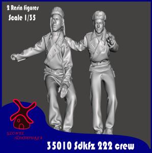 Glowel Miniatures 35010 Sdkfz 222 crew 1/35