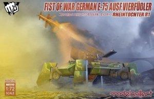 Modelcollect UA72113 Fist of Wars German WWII E75 Ausf. Vierfusler Rheintochter 1 1/72