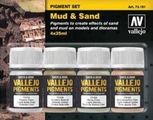 Vallejo 73191 Mud and Sand - Pigment Set 4x35ml.