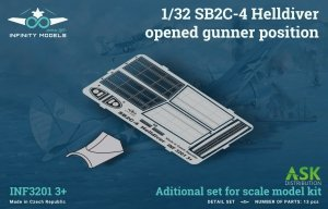 Infinity Models INF3201-03+ SB2C-4 Helldiver opened gunner position 1/32