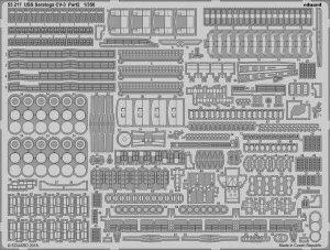 Eduard 53217 USS Saratoga CV-3 pt.2 TRUMPETER 1/350