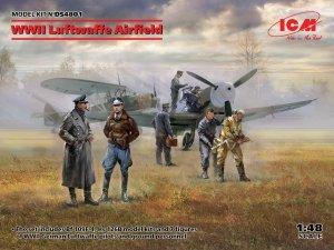 ICM DS4801 WWII Luftwaffe Airfield ( Messerschmitt Bf-109F-4, Henschel Hs-126 B-1, German Luftwaffe Pilots and Groun ) 1/48
