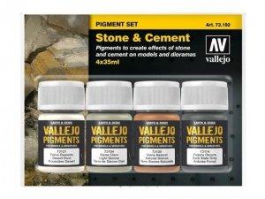Vallejo 73192 Pigment Set Stone & Cement 4x35ml