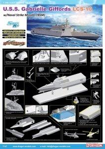 Dragon 7147 U.S.S. Gabrielle Giffords LCS-10 w/Naval Strike Missiles (NSM) 1/700