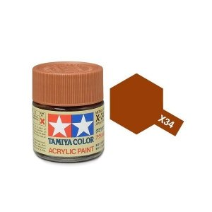 Tamiya 81034 Acryl X-34 Metallic Brown 23ml