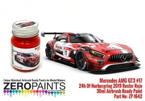 Zero Paints ZP-1642 Mercedes AMG GT3 17 ADAC Total 24h Of Nurburgring 2019 Red Paint 30ml
