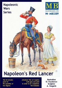 Master Box 3209 Napoleon's Red Lancer Napoleonic War Series 1/24