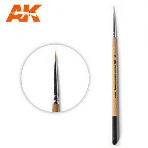 AK Interactive AKSK-0 PREMIUM SIBERIAN KOLINSKY BRUSH – 0