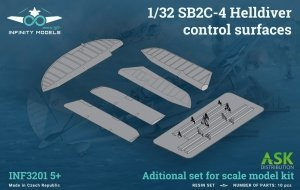 Infinity Models INF3201-05+ SB2C-4 Helldiver control surfaces 1/32