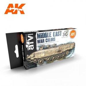 AK Interactive AK 11648 MIDDLE EAST WAR COLORS 6x17ml