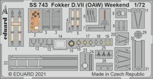 Eduard SS743 Fokker D.VII (OAW) Weekend EDUARD 1/72