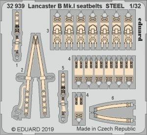 Eduard 32939 Lancaster B Mk. I seatbelts STEEL 1/32 HONG KONG MODELS