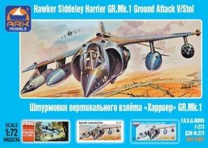 Ark Models 72027 Hawker Siddeley Harrier GR.1 British V/STOL attack aircraft (1:72)