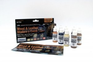 Vallejo 70182 Model Color - Wood and Leather Set 8x17ml.