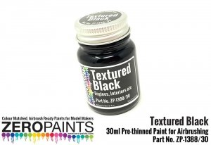 Zero Paints 1388-30 Black Textured - Engines, Interiors etc 30ML