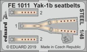 Eduard FE1011 Yak-1b seatbelts STEEL ZVEZDA 1/48