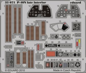 Eduard 33071 P-40N late interior S.A. for HASEGAWA 1/32