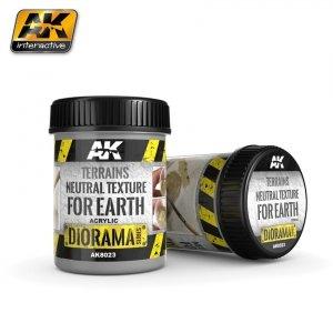 AK Interactive AK 8023 Terrains Neutral Texture For Earth 250ML (BASE PRODUCT)