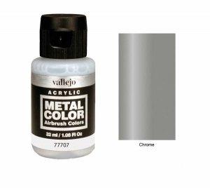 Vallejo 77707 Metal Color- Chrome 32ml