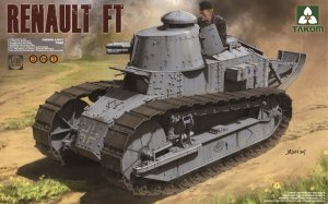Takom 1004 French Light Tank Renault FT-17 (3 in 1) 1/16