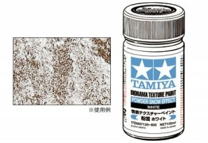 Tamiya 87120 Diorama Texture Paint (Powder Snow Effect, White)