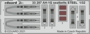 Eduard 33287 AH-1G seatbelts STEEL ICM 1/32