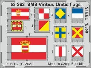 Eduard 53263 SMS Viribus Unitis flags STEEL TRUMPETER 1/350